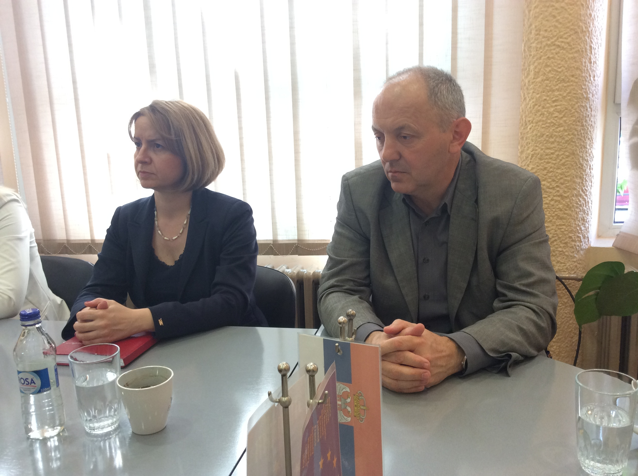 Mirjana Kovačević (PKS) i Živorad Jovović (Atlas Užice)  Foto--URP