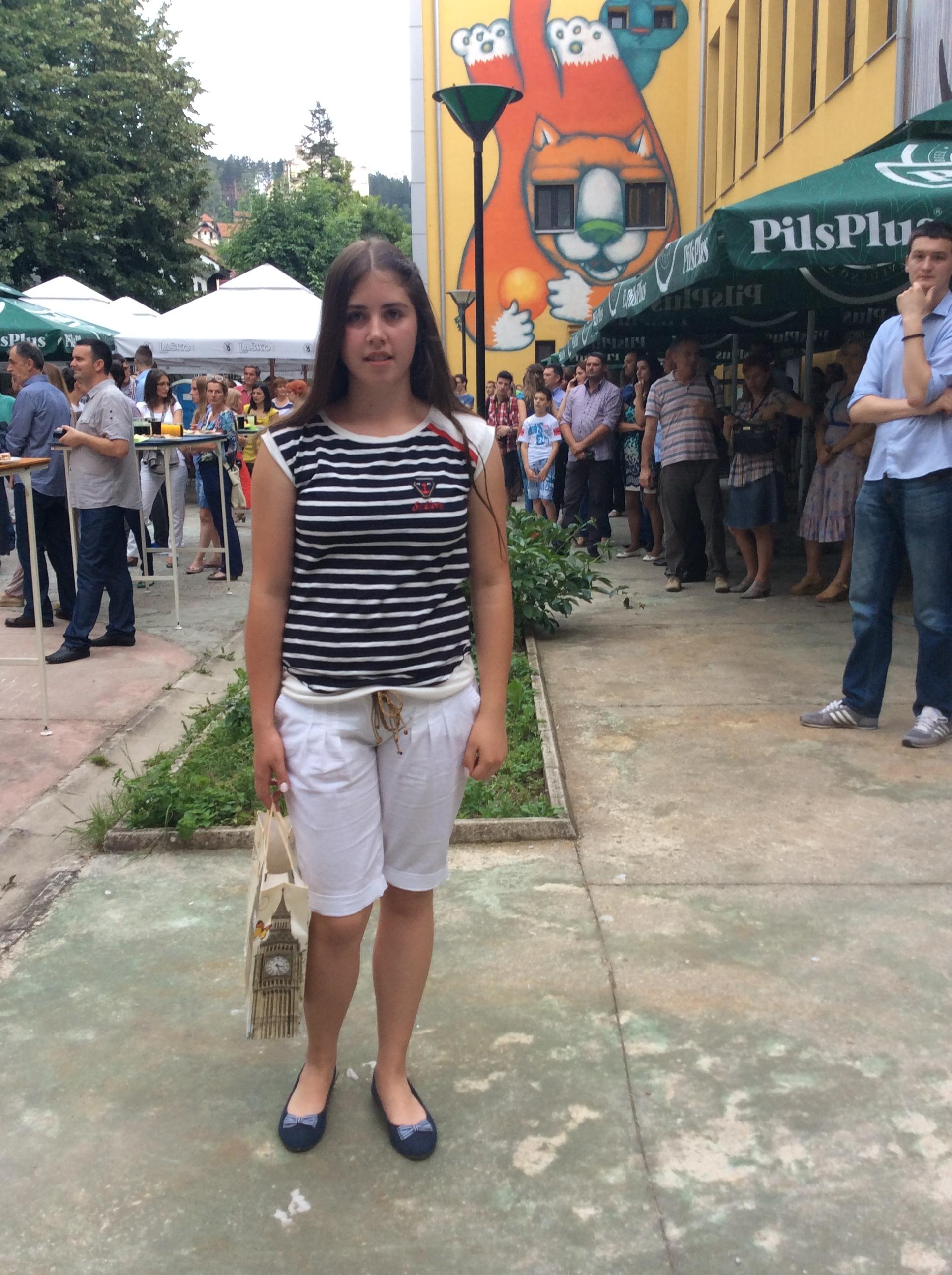 """Kristina Milanović, đak generacije OŠ """"Slobodan Sekulić""""    Foto--URP"""