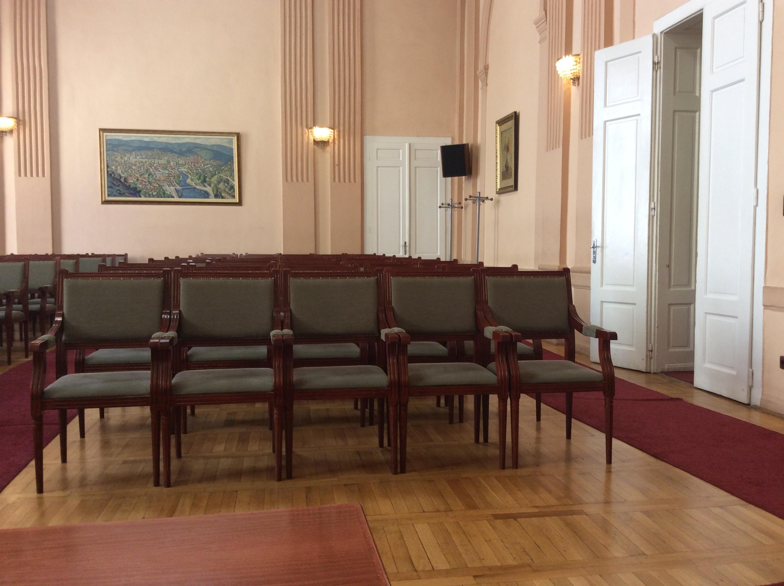 Skupštinska sala prazna do 22. juna     Foto--URP