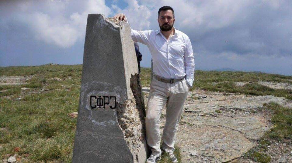 Aleksa Ciganović, na Kajmakčalanu gde trenutno radi na obnovi objekata u okviru vojne spomeničke celine Foto- privatni album