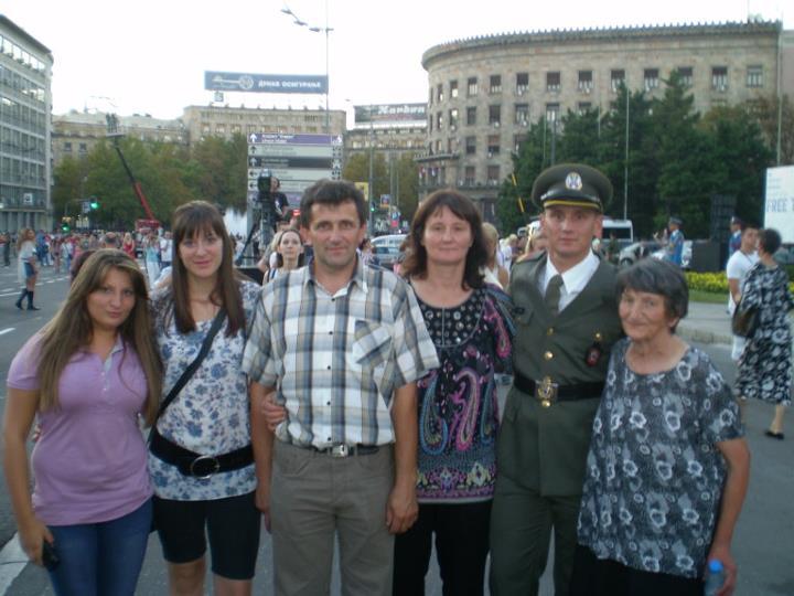 Goran Savić, sa porodicom Foto--privatni album