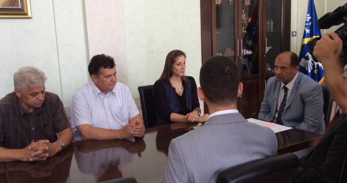 Tijana Malešević na prijemu u Gradskoj kući u Užicu  Foto--URP