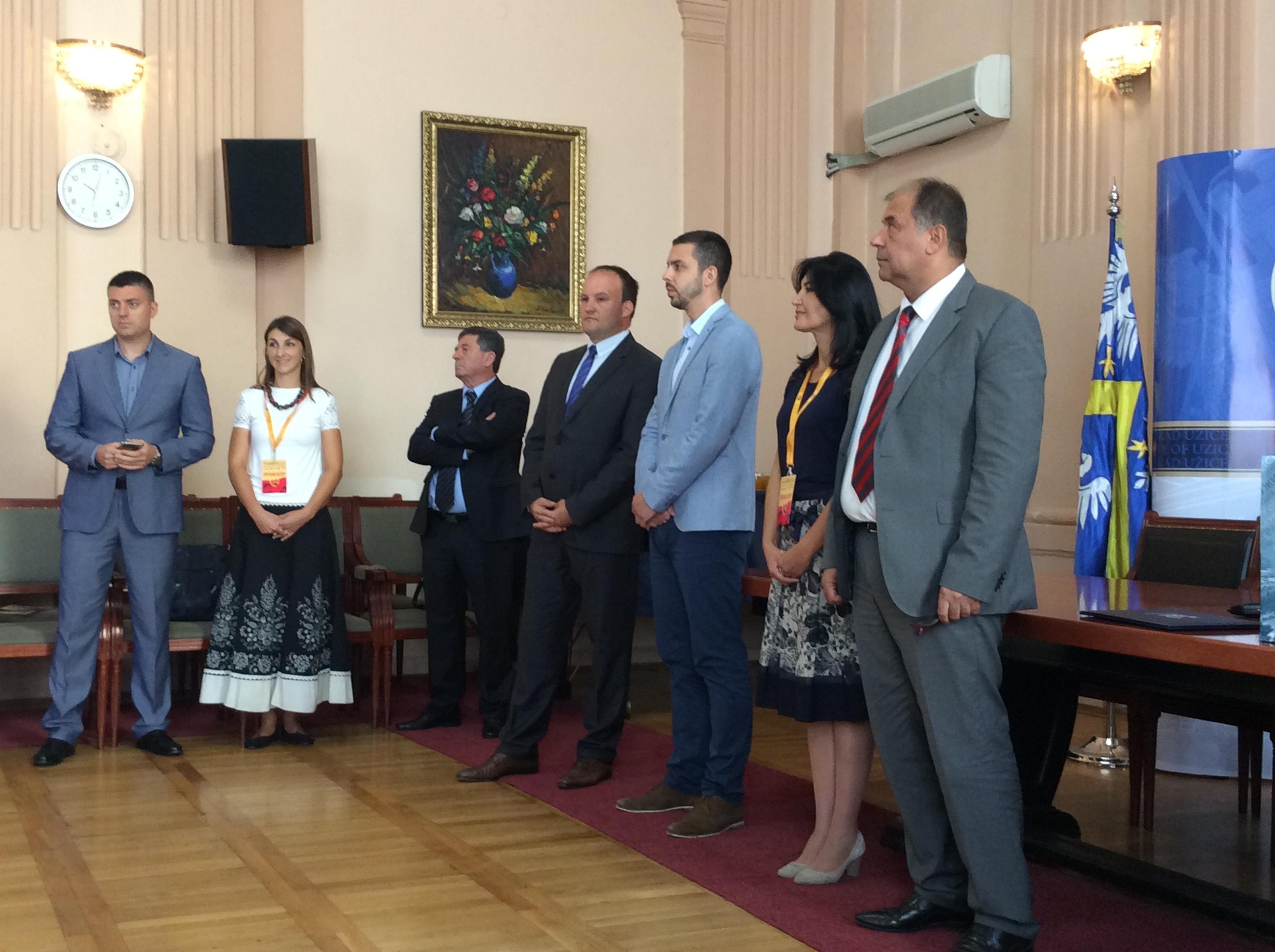 """Tradicionalni prijem u Gradskoj kući za učesnike Festivala """"Licidersko srce""""  Foto--URP"""