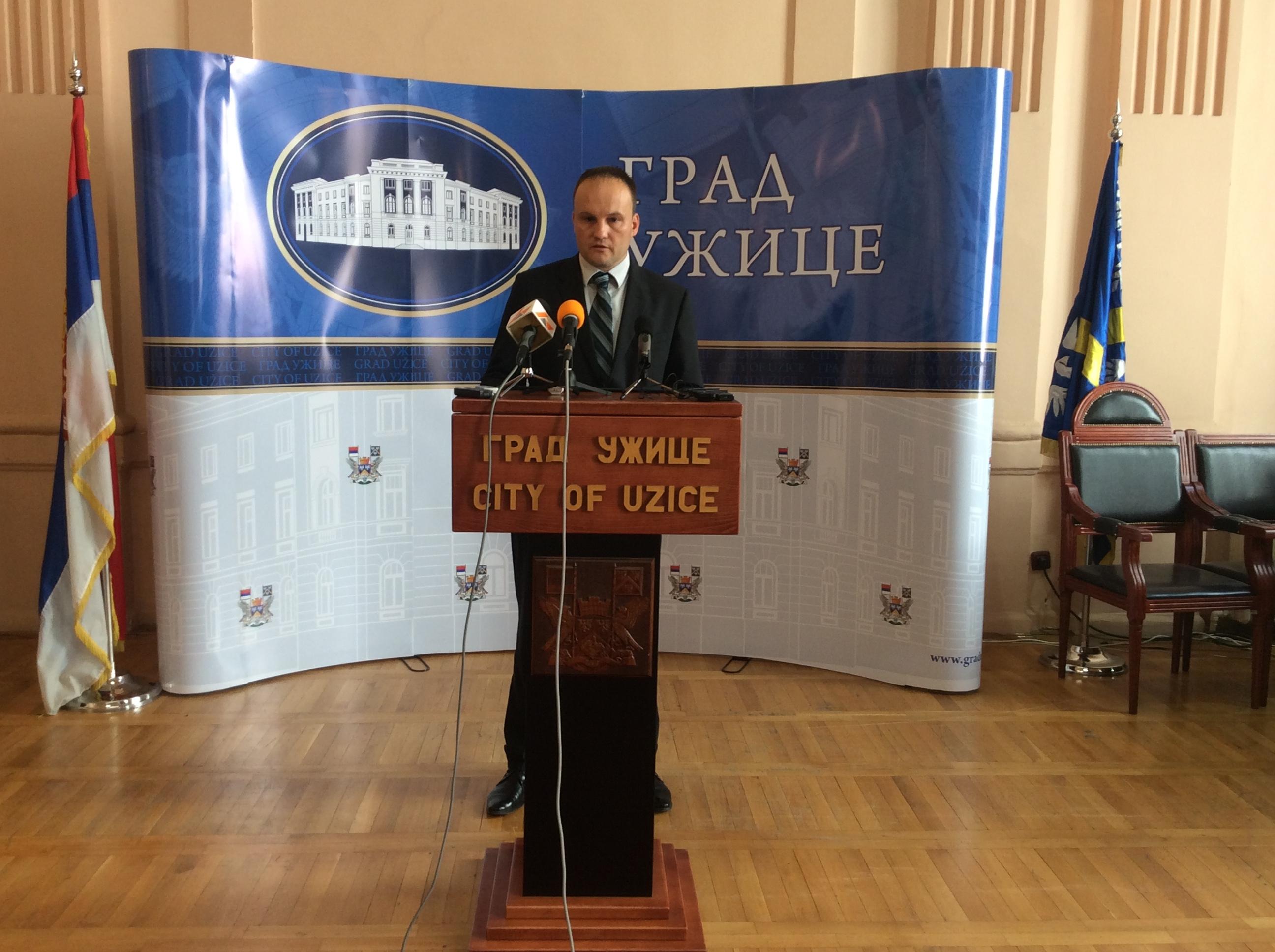 Nemanja Nešić, zamenik gradonačelnika Užica Foto--URP