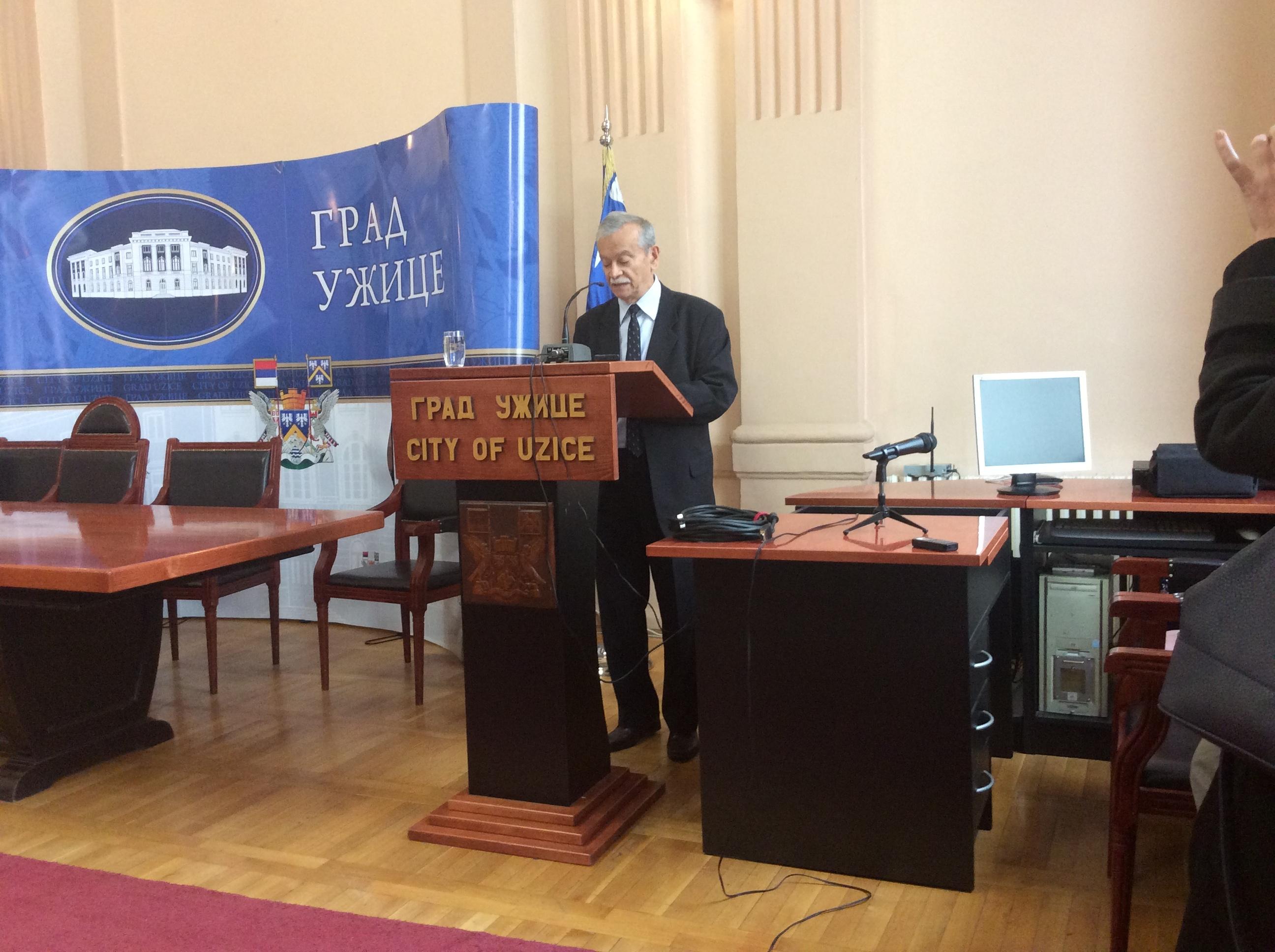 Milorad Iskrin, istoričar bio je uporan u nastojanjima da Ljubica Čakarević počiva u rodnom Užicu Foto--URP