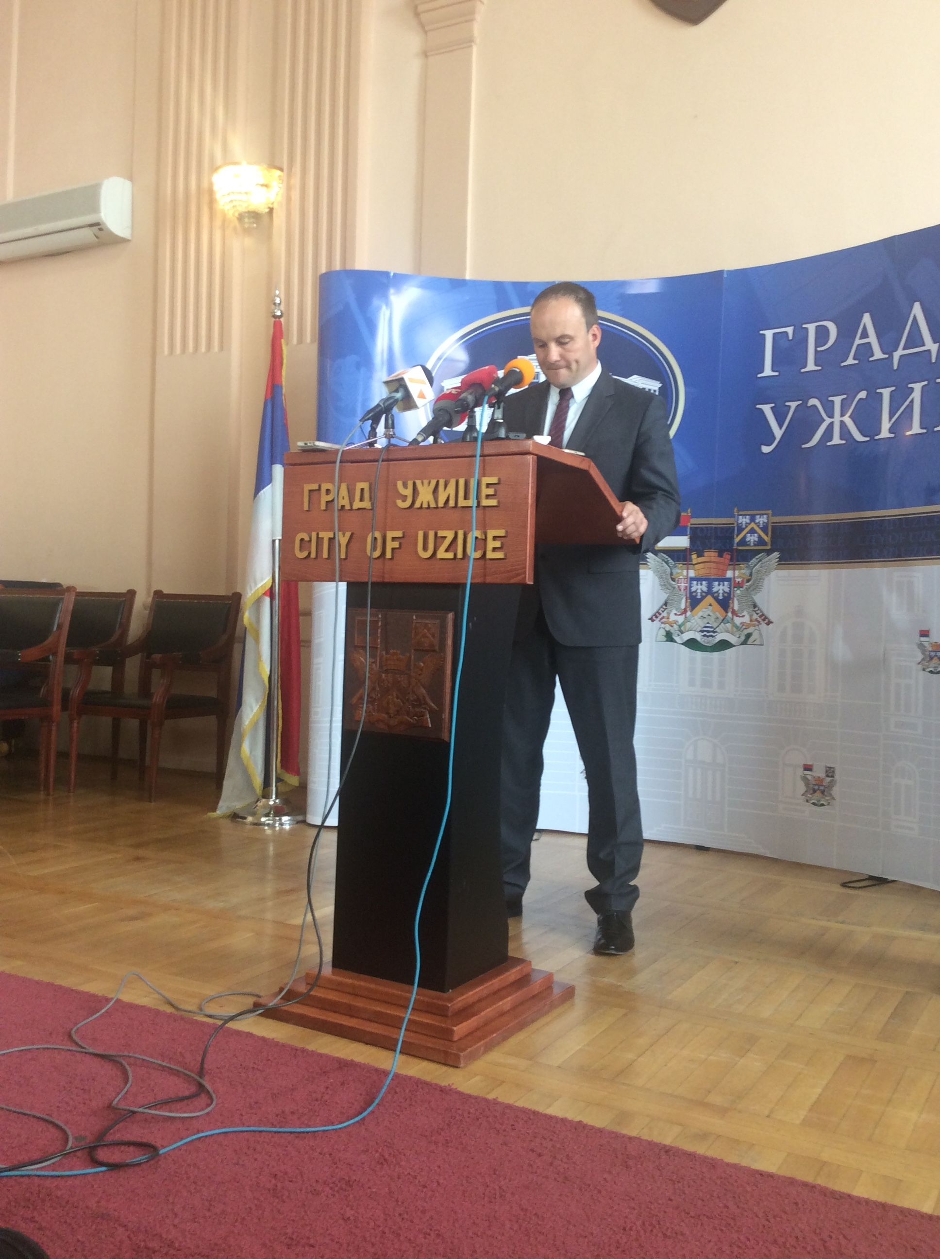 Nemanja Nešić, pomoćnik gradonačelnika Užica Foto--URP