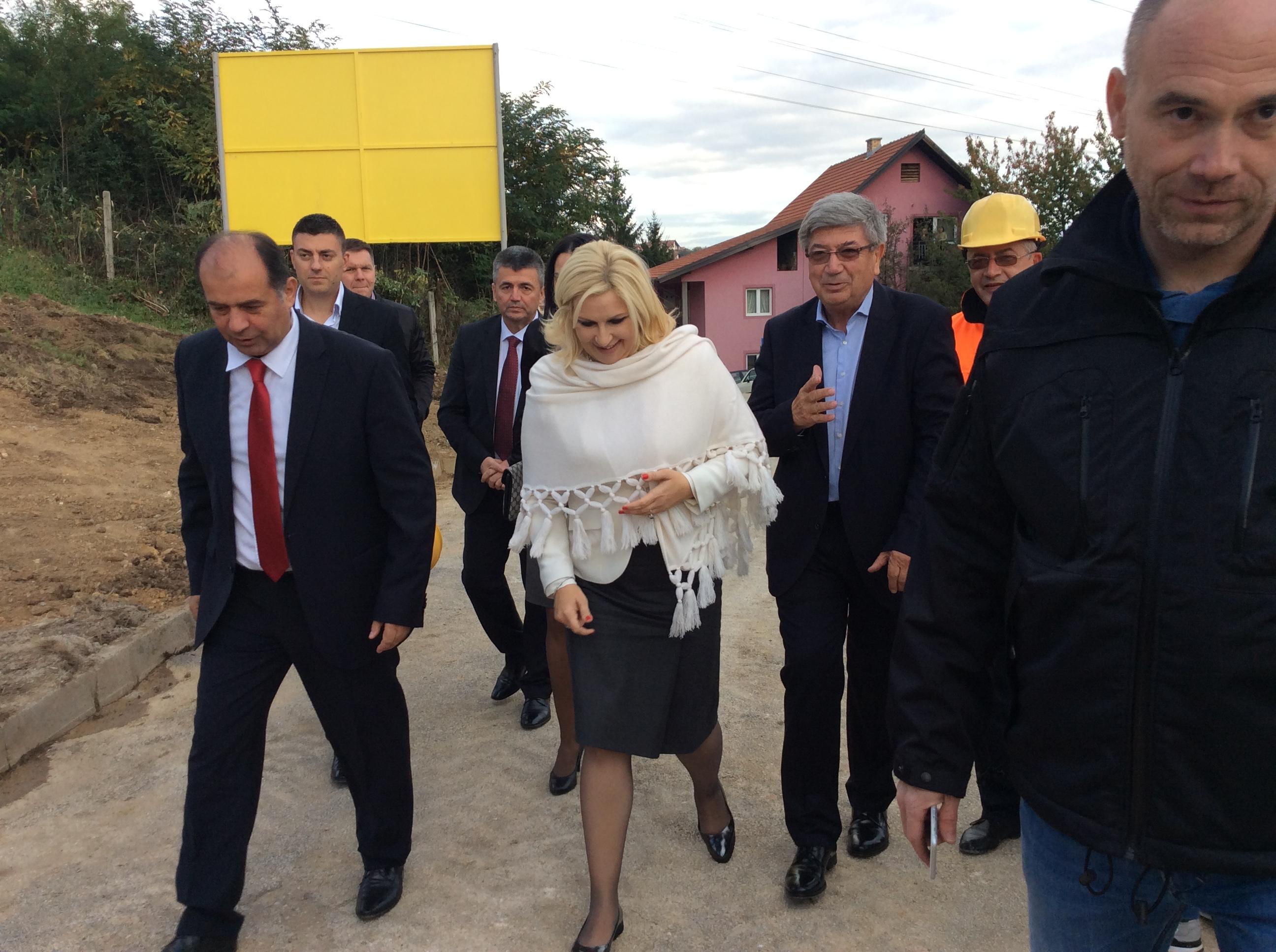Zorana Mihailović. ministarka građevinarstva, saobraćaja i infrastrukture i TIHOMIR petković, gradonačelnik Užica Foto--URP