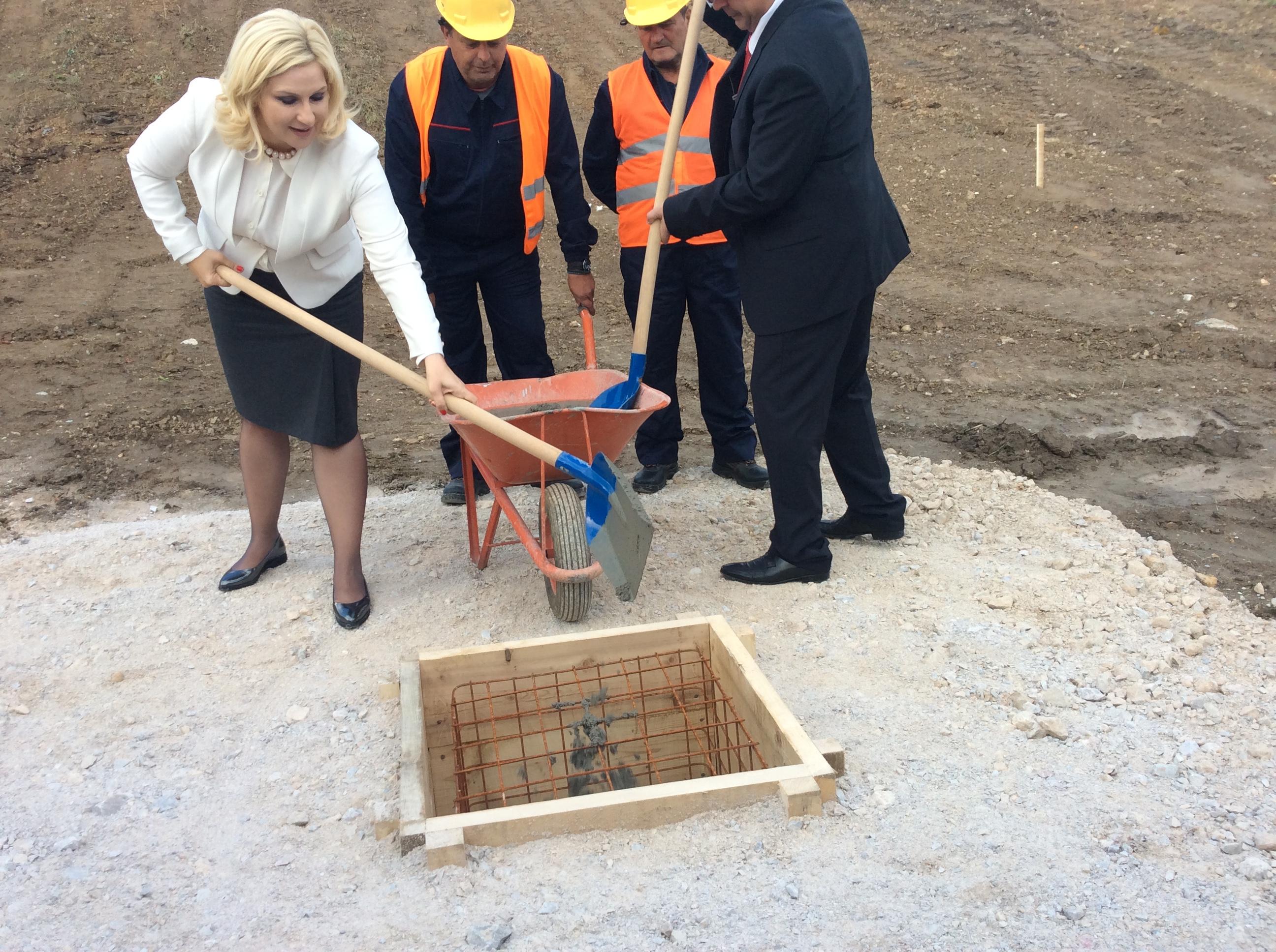 Zorana Mihailović, simbolično je označila početak radova na rekonstrukciji i dogradnji Fabrike vode na Cerovića brdu Foto--URP