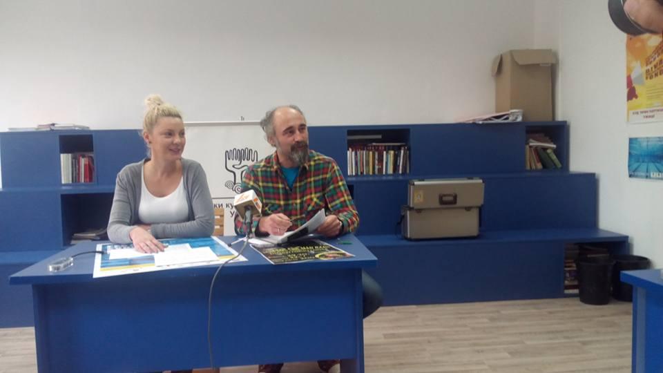 Jelena Vasović, direktorka GKC-a i Miloš Milojević, rukovodilac programskog sektora  Foto--URP
