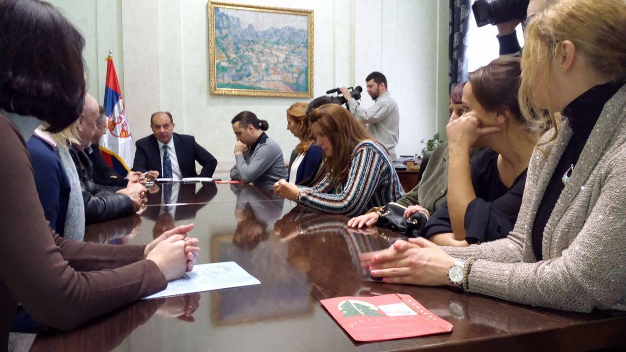 Prijem kod gradonačelnika za zajednicu udružanja osoba sa invaliditetom povodom 3. decmbra Foto--URP