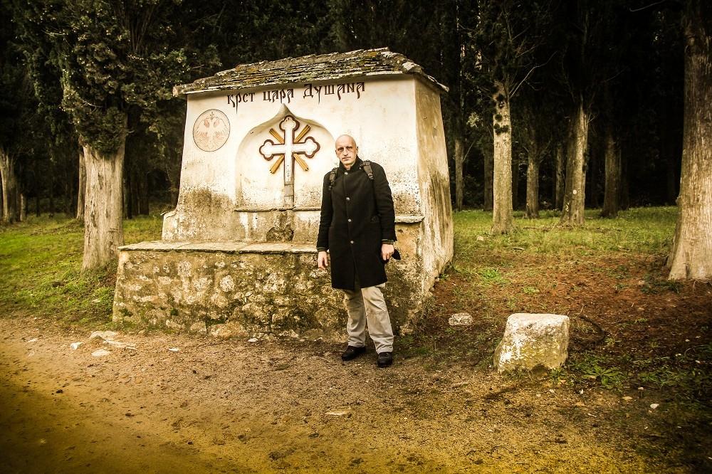 Sreten Vuković, prilikom boravka na Hilandaru u decembru 2012.  Foto--S.V.