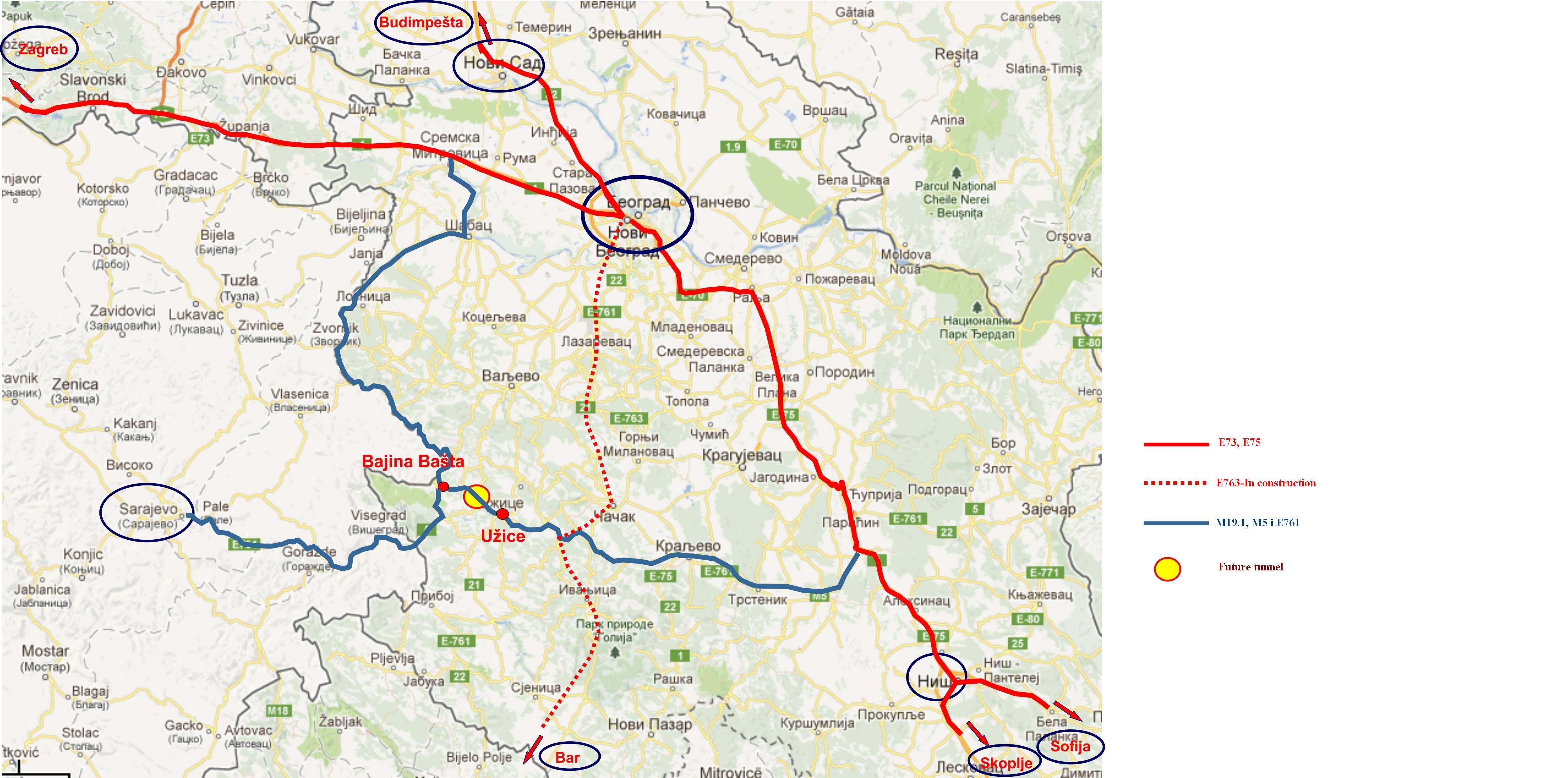 Karta sa putevima