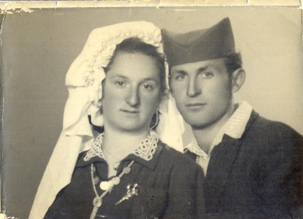 Radojka i Milorad Lazić na venčanju  Foto--privatni album G.L.