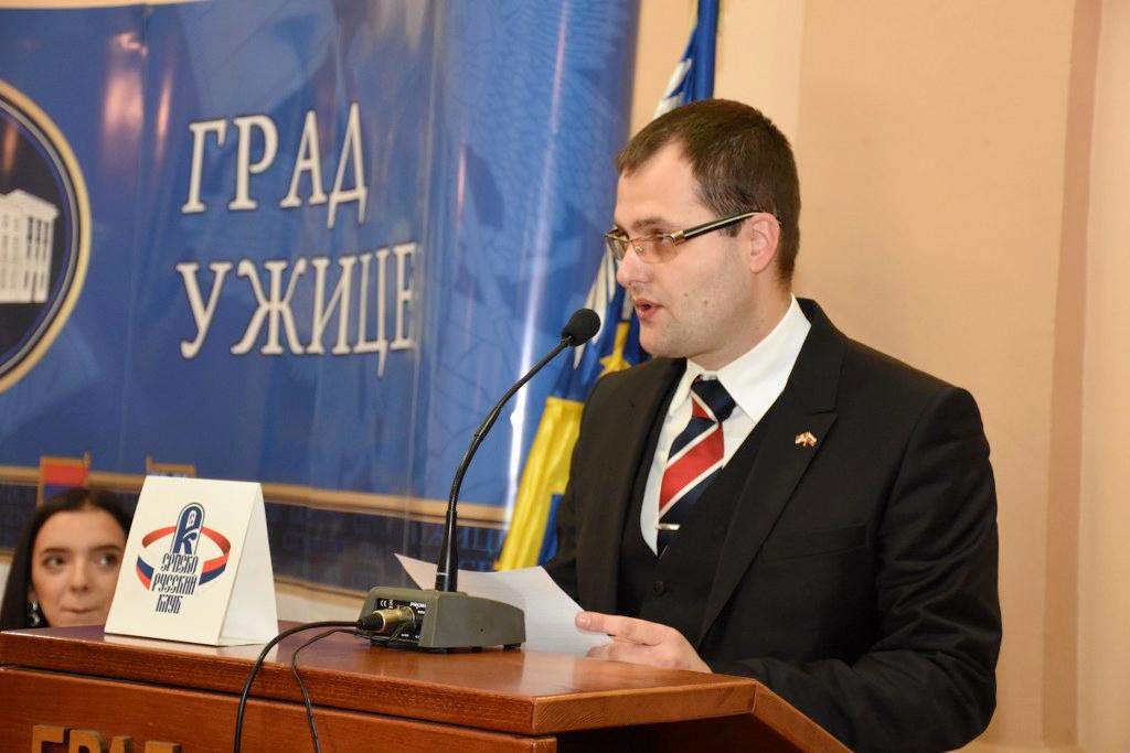 Nemanja Spalović, predsednik Srpsko- rsukog kluba u Užicu Foto--Foto video Fleš
