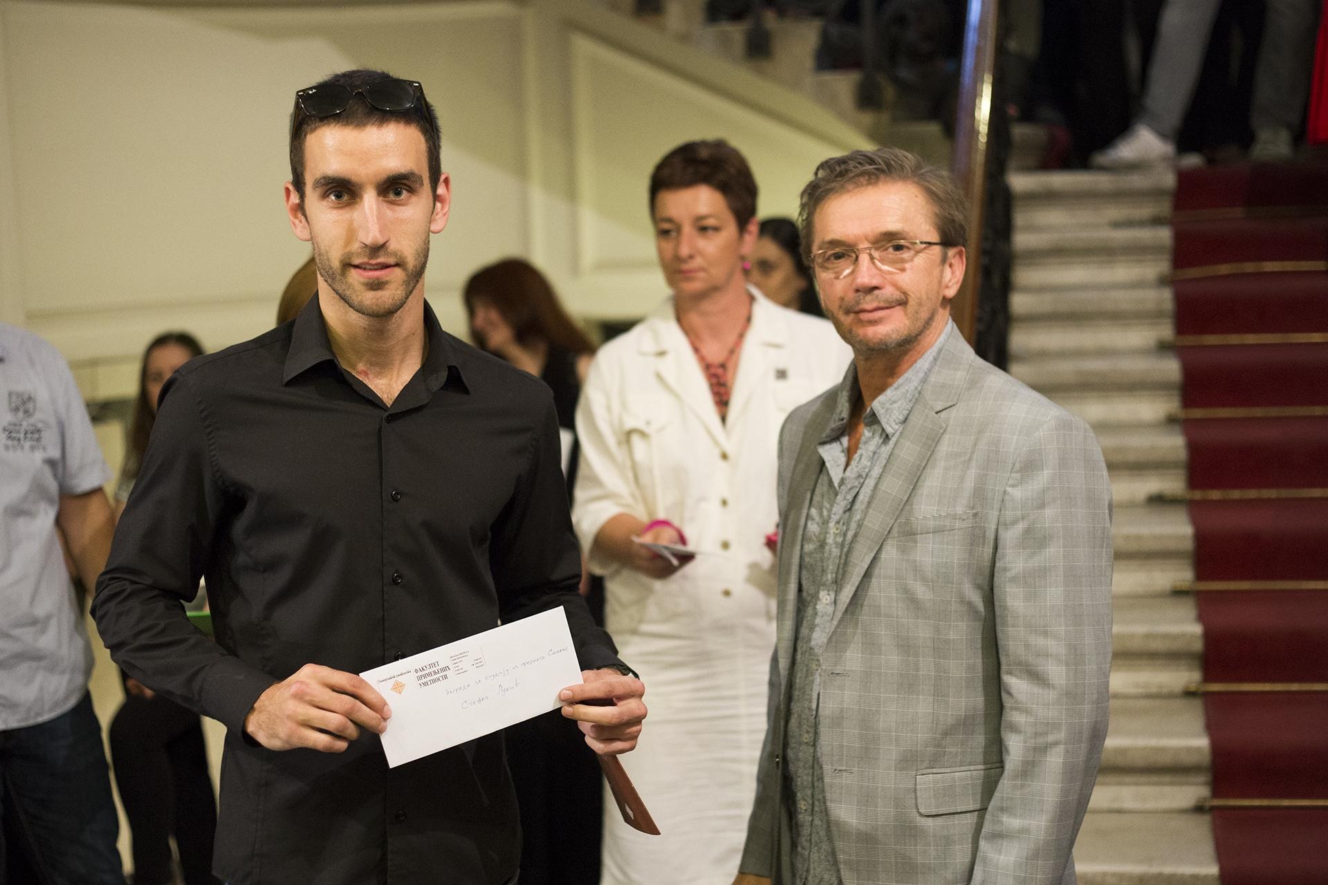 Posle nagrade Fakulteta primenjenih umetnosti, Stefan Lukić je prvi student ove institucije koji odlazi na Francusku akademiju umetnosti Foto--privatni album S.L.
