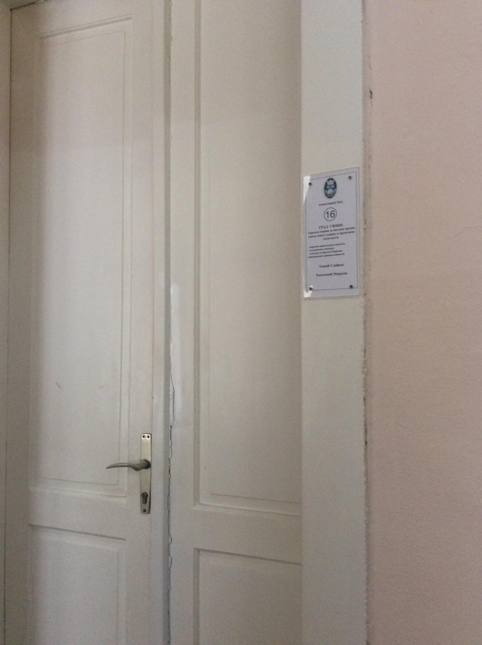 U kancelariji broj 16 u zgradi opštine Užice podnose se zahtevi za energetski ugrožene kupce električne energije i gasa  Foto--URP