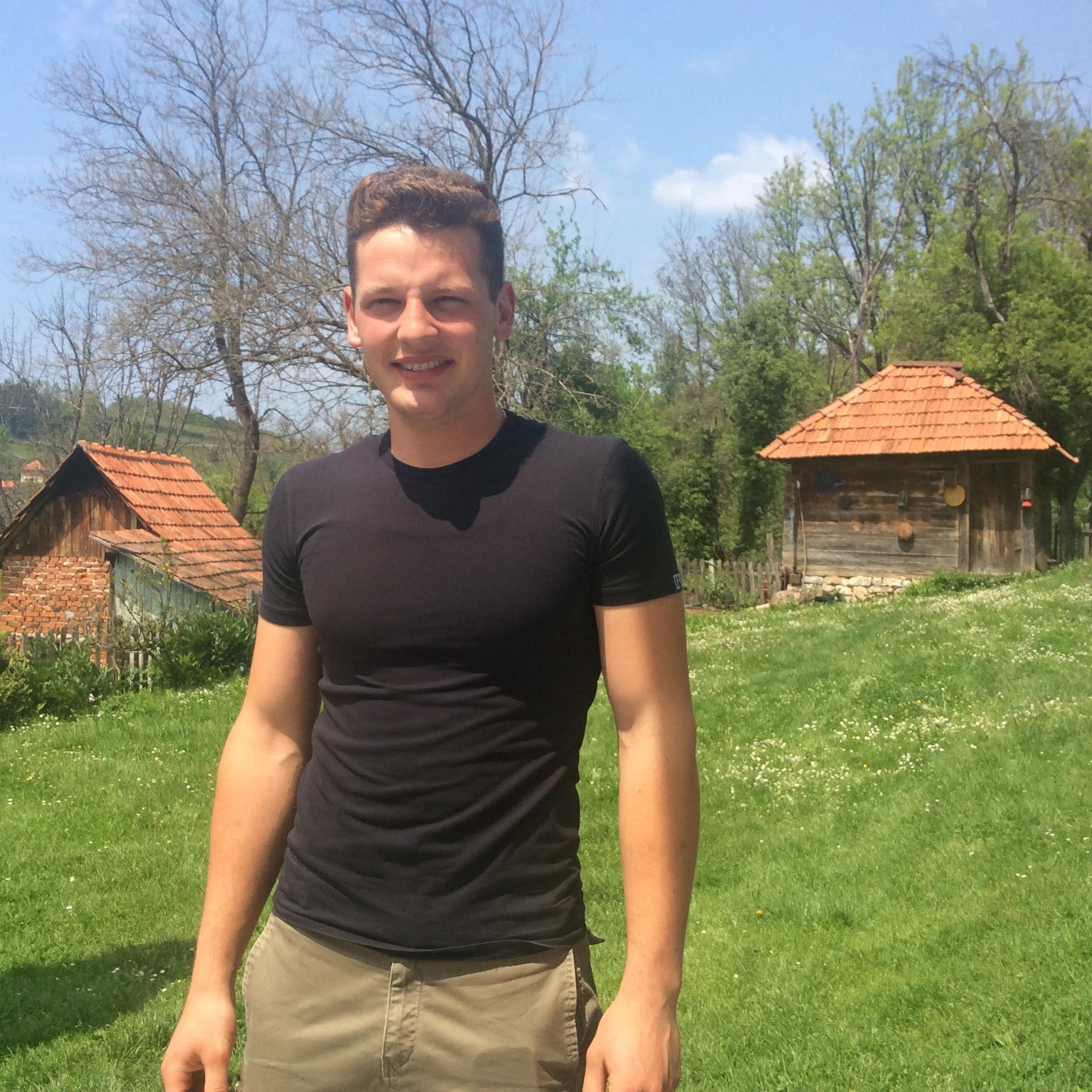 Đorđe Stoković, veruje da mladi mogu da ožive veliki broj sela u Srbiji Foto--URP