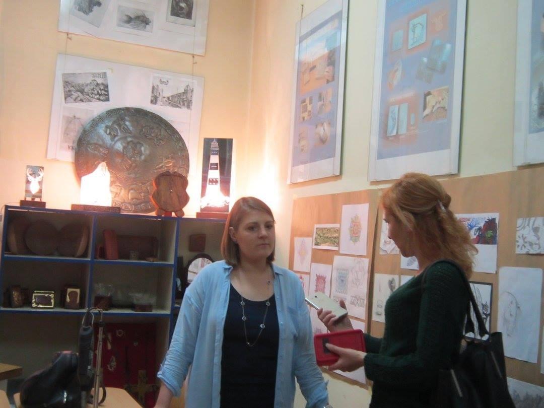 Nataša Tanović- Marković bivša učenica sada profesorka graverima u Umetničkoj školi u Užicu Foto--S.B.