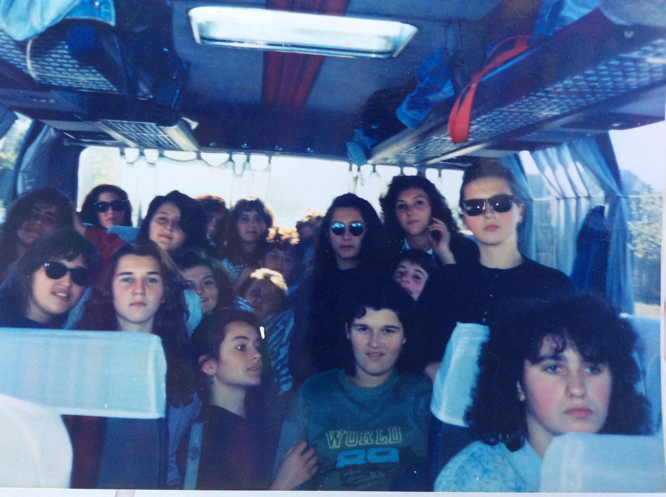 Na ekskurziji u Budimpešti, 10. oktobar 1990. godine