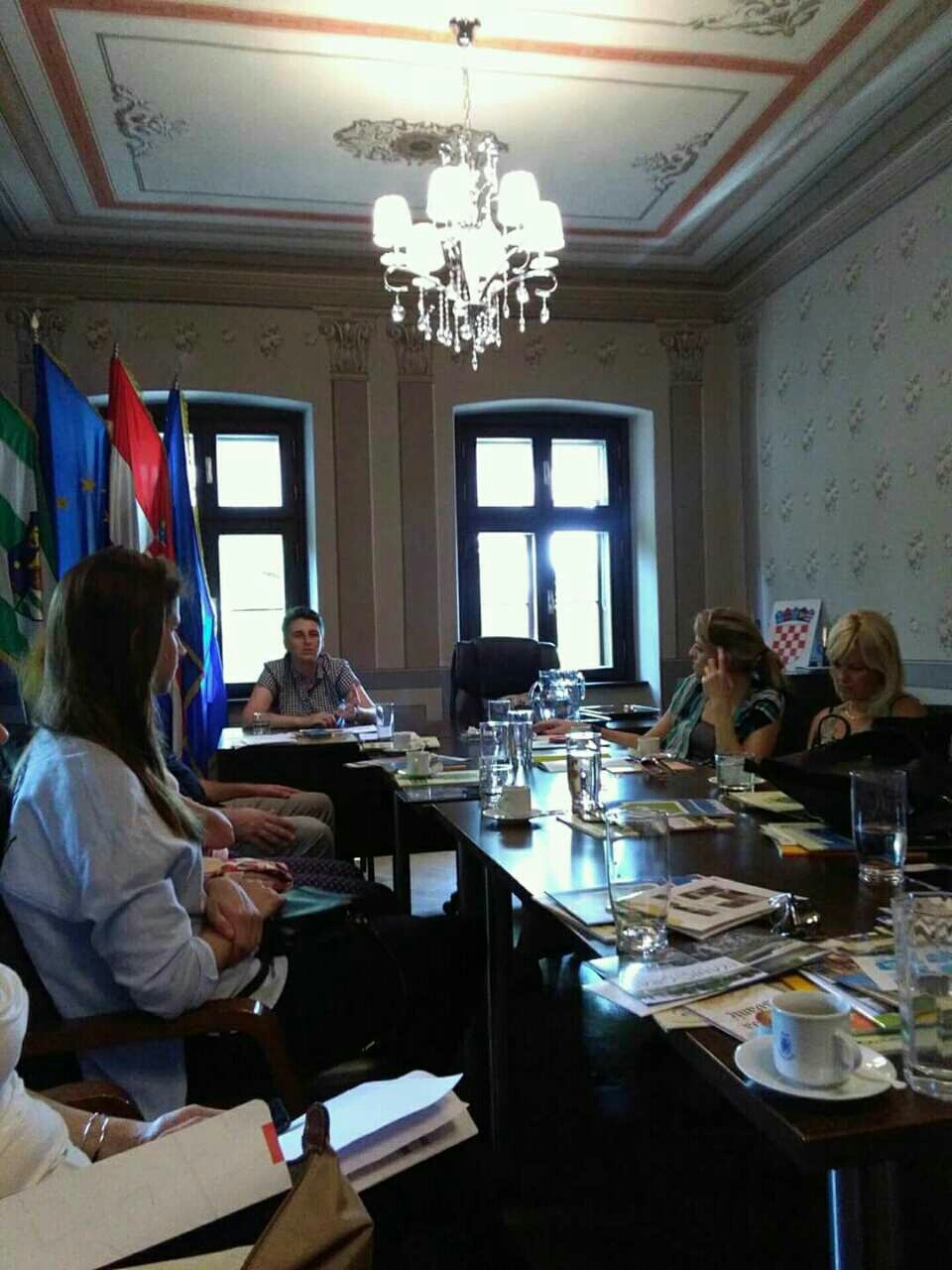 Vlatka Berlan, stručna saradnica za projekte i fondove EU u Ivanić gradu istakla je predstavnicima iz Srbije da je upravo ovaj gradić jedan od najboljih primera primene energetske efikasnosti u Hrvatskoj Foto--URP