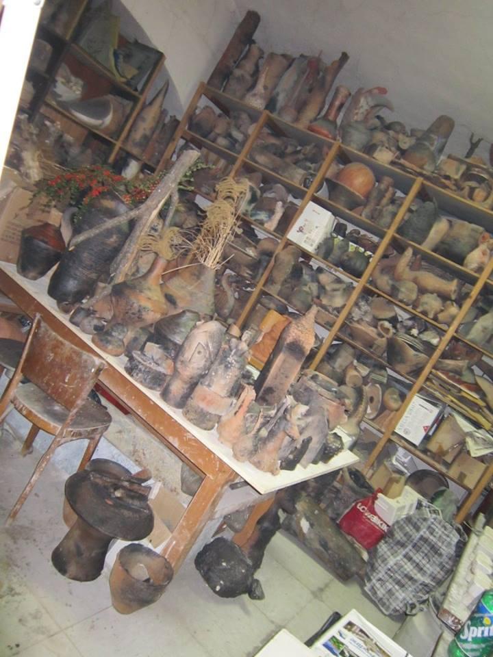 """Autorka projekta """"Keramika Zlakusa"""", Sofija Bunardžić u svom ateleju čuva najveći deo radova nastalih tokom 21. kolonije  Foto--S.Bunardžić"""