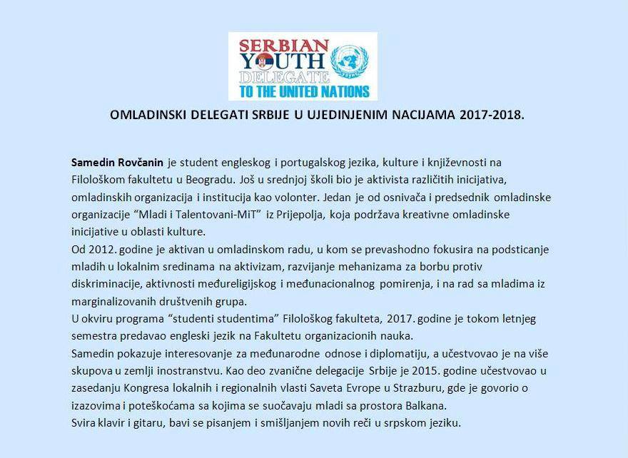 Samedin Rovcanin reference