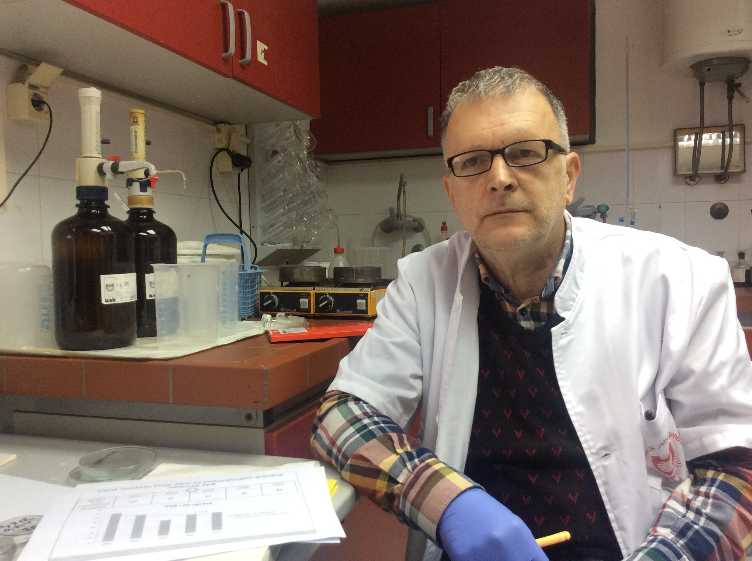 Do kraja ove sezone imaćemo oko 100 rezultata merenja PM 10 čestica koje ćemo uporede sa rezultatima na automatskoj mernoj stanici, ističe Dragan Čučković iz ZZJZ Foto--URP