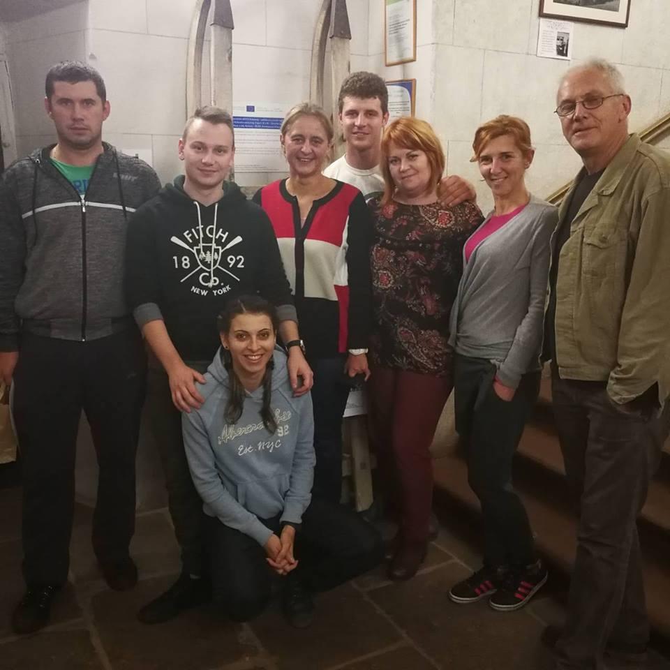 Predstavnici Centra za organsku proizvodnju,urednica www.uzickarepublikapress.rs i Stevan Davidović, novinar Radija Novi Sad Foto--URP