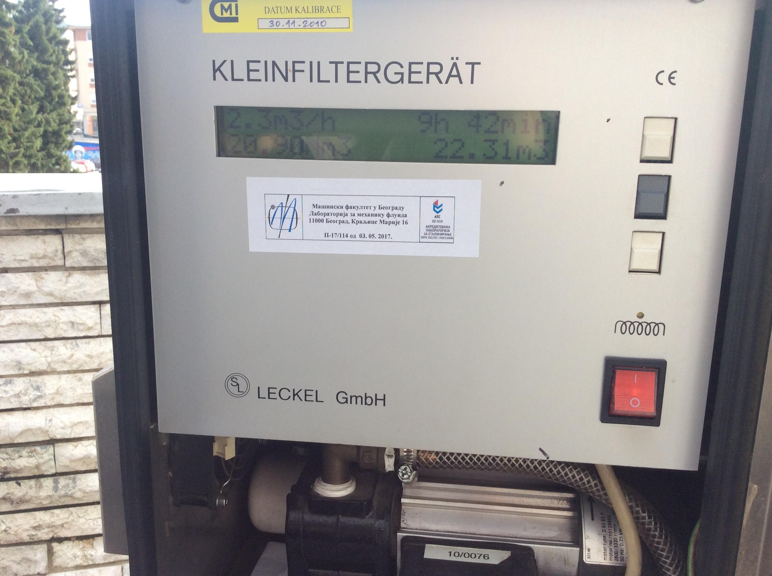 Uređaj za merenje PM 10 čestica koji je postavio ZZJZ iz Užica pokazuje efekte gasifikacije Foto--URP