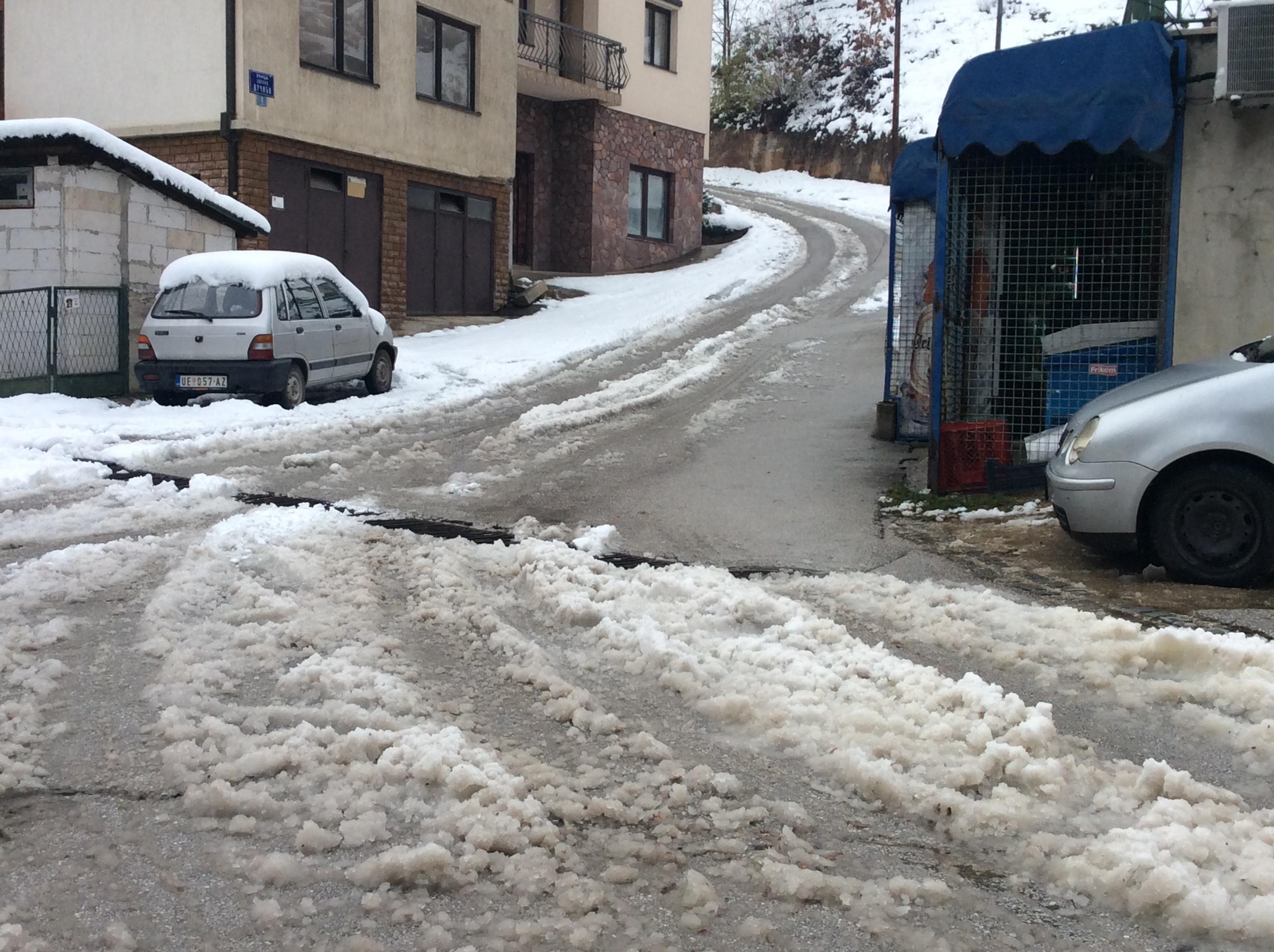 sneg i resetka