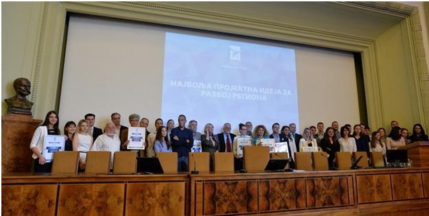 Dodela nagrada pobednicima konkursa  RAS-a u Srpskoj akademiji nauka i umetnosti u julu 2017. godine. Foto--V.M.