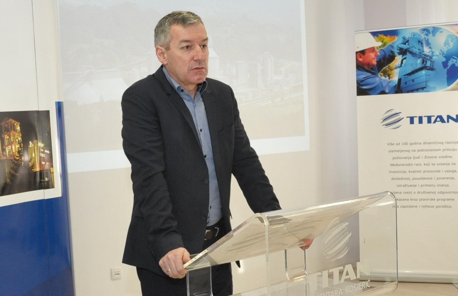 Generalni direktor TITAN Cementare Kosjeric zahvalio se svim ucesnicima konkursa Za moj Kosjeric 2018